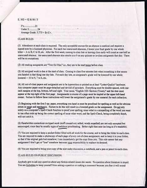 Example of a literature essay