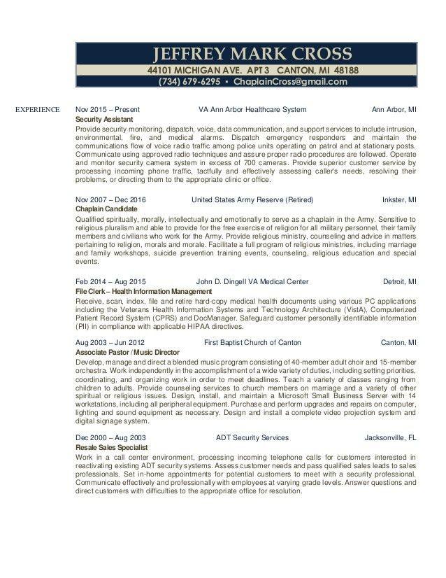 Jeffrey Cross Business Resume - Everything