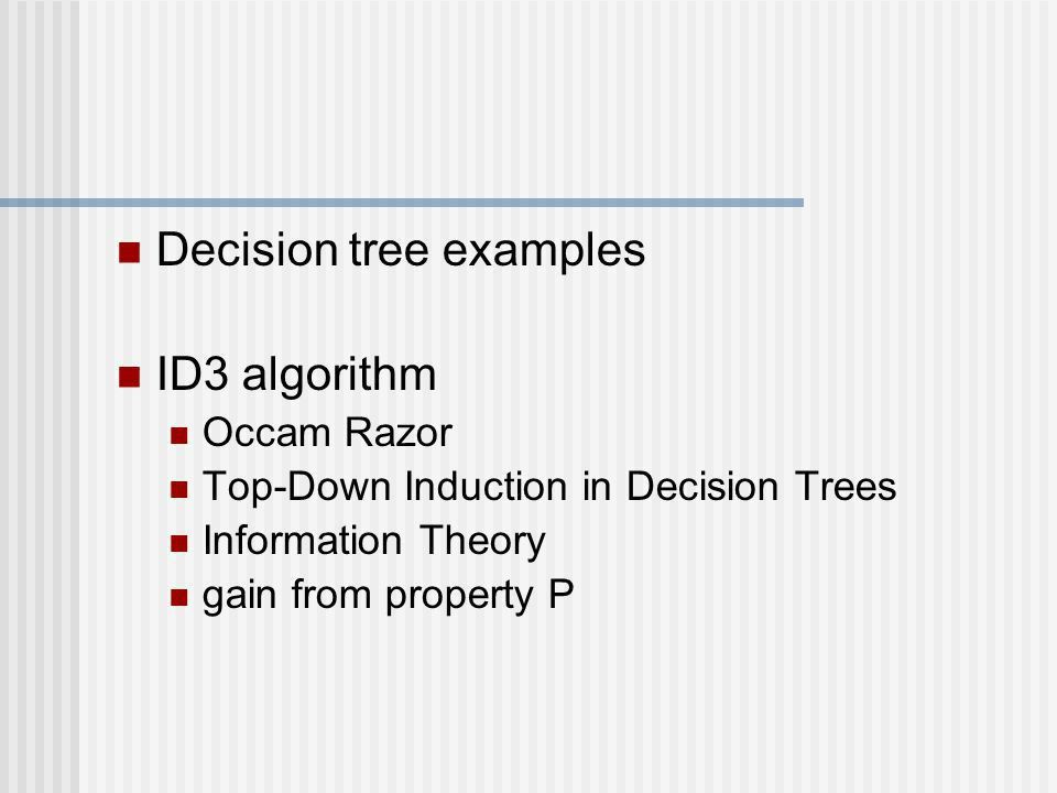 Decision Tree Learning - ID3 - ppt download