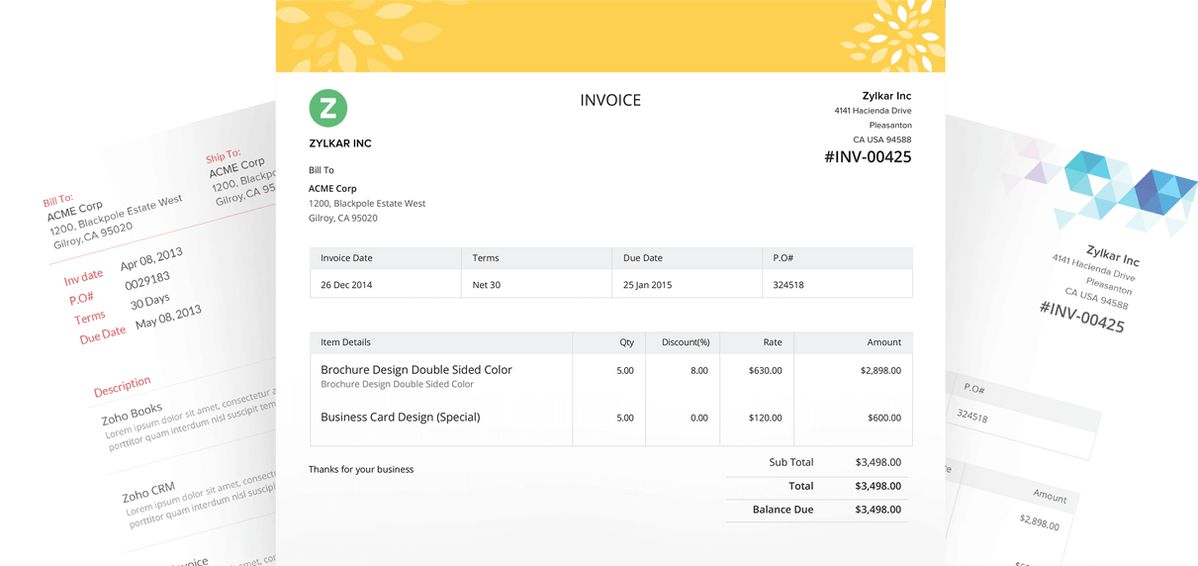 Online Invoice Software | Cloud Invoicing System - Zoho Invoice