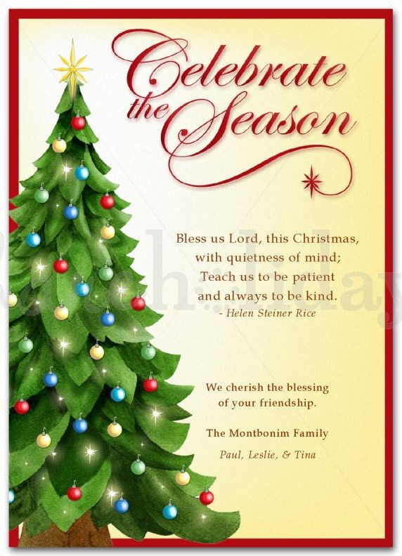 What To Write In A Religious Christmas Card - Christmas Cards Ideas