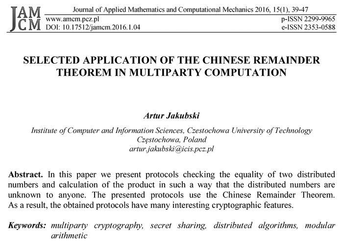Journal of Applied Mathematics and Computational Mechanics