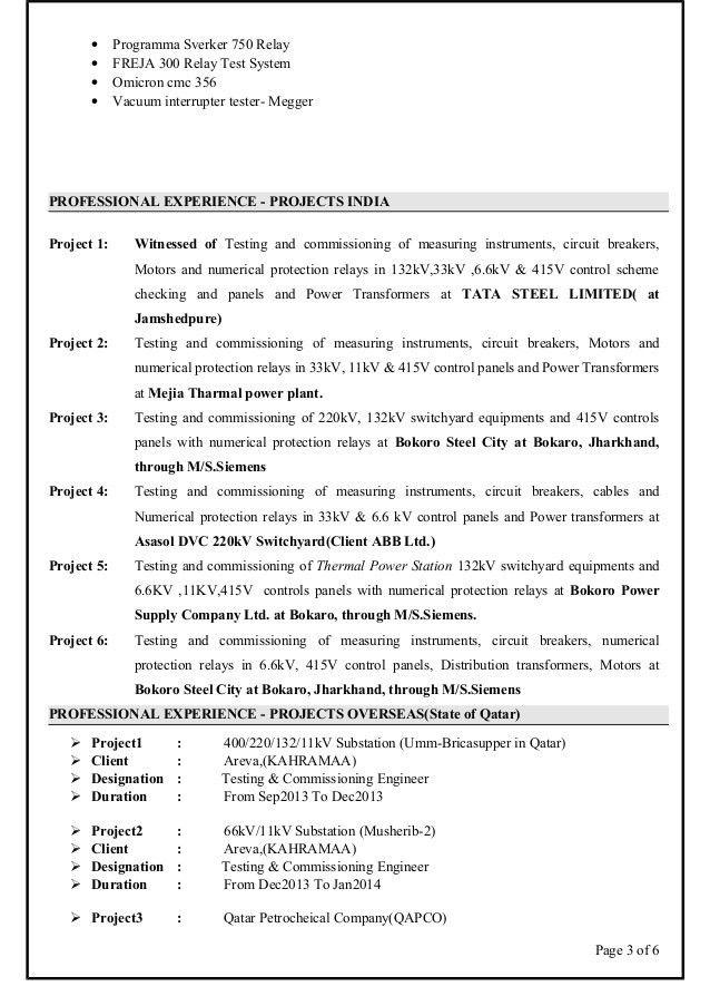 Asish CV (electrical engineer testing and commissioning and maintenan…