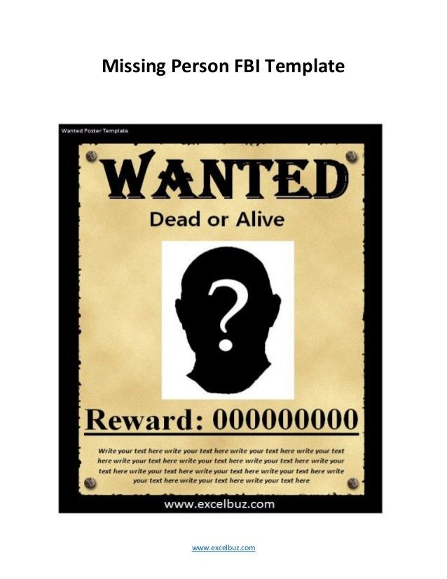 Missing Persons Poster Template - Contegri.com