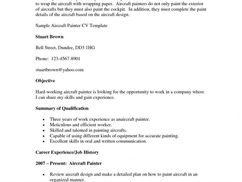 sample painter resume