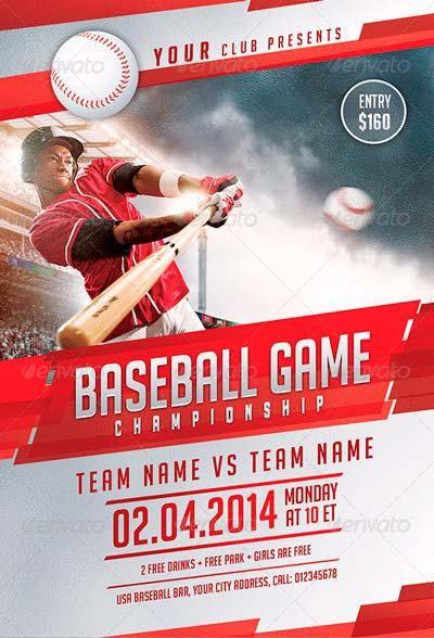 Best Baseball Sports Flyer Templates No.1