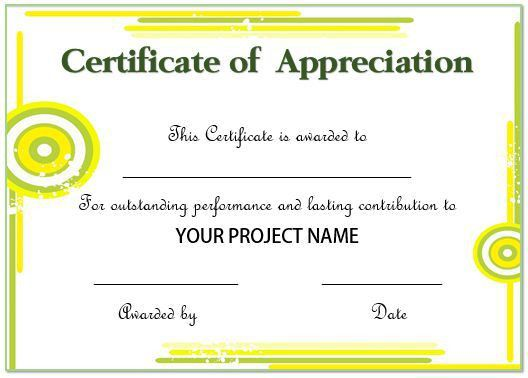 20 Free Certificates Of Appreciation For Employees : Editable ...