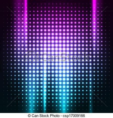 Clip Art Vector of Abstract colorful disco club background vector ...
