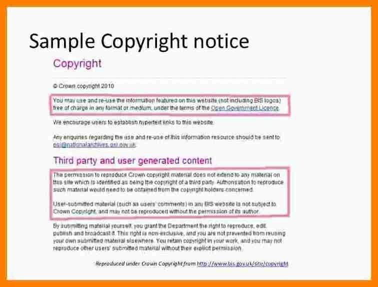 6+ copyright statement example | science-resume