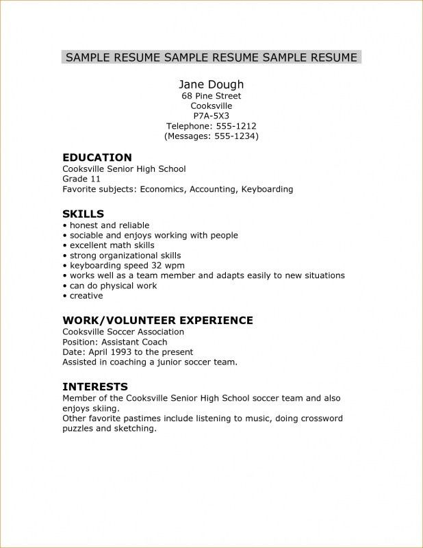 Resume Template For College Application. Cover Letter For Apple ...