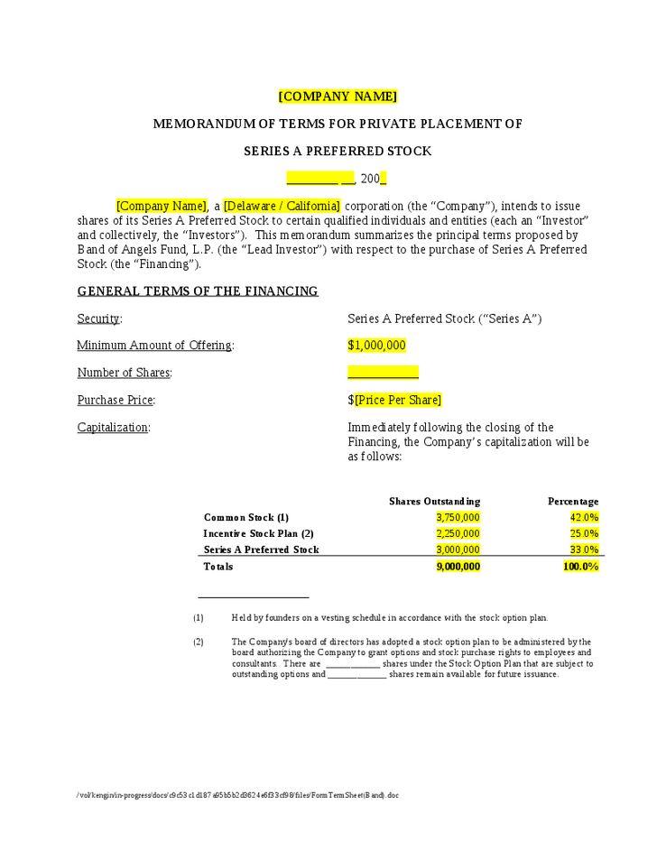 Form Term Sheet - Hashdoc