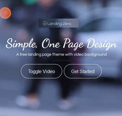 Zero – free Bootstrap Landing Page template - Awesome Bootstrap