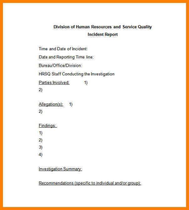 8+ sample of incident report letter template   farmer resume