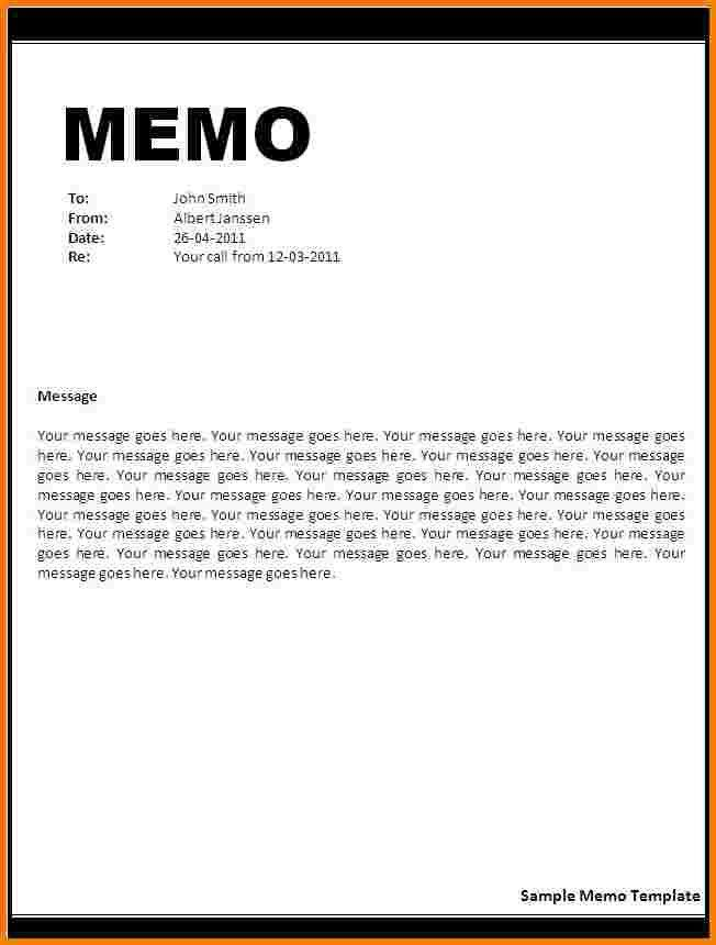 4 word memo template | Receipt Templates
