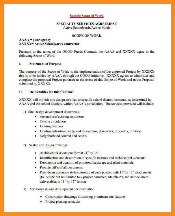 13+ construction scope of work example - mystock clerk