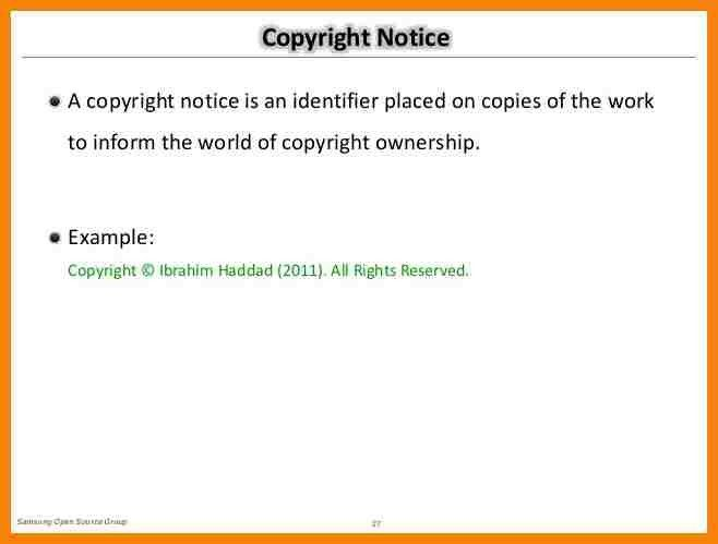 13+ copyright notice example | hr cover letter