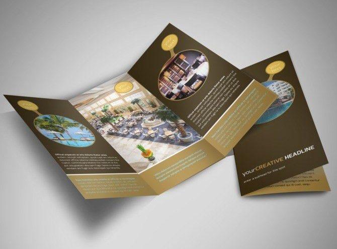 Luxury Hotel Tri-Fold Brochure Template | 언니오빠 | Pinterest ...