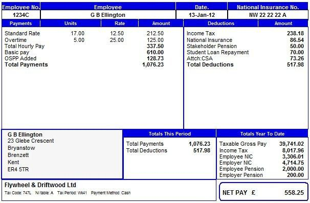 Payroll Manager Software Employee Payslips Selection
