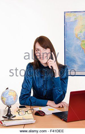 Travel agency manager Stock Photo, Royalty Free Image: 88531328 ...