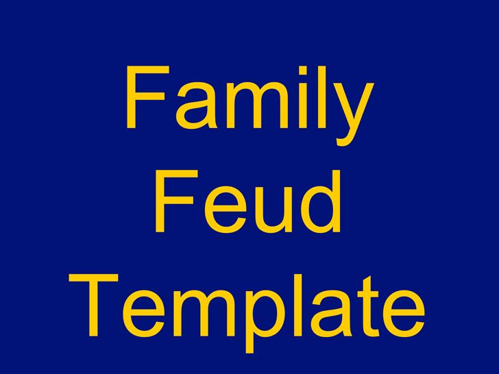 Free Family Feud Powerpoint Template 3 - FormXls