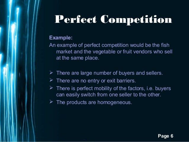 Economics Perfect Competition
