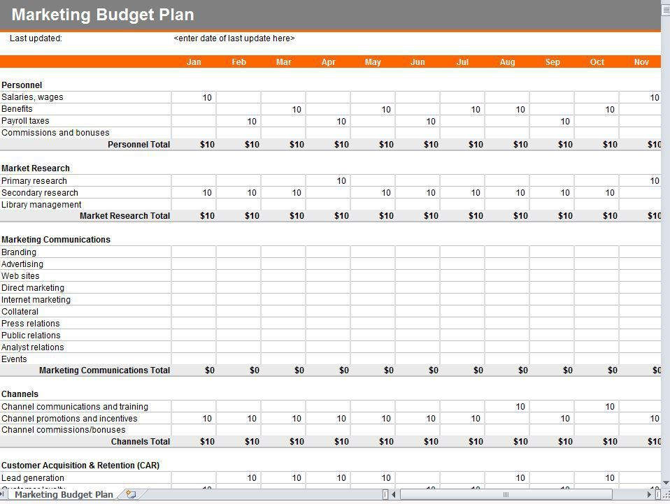 Marketing Budget Template | Marketing Plan Budget Template