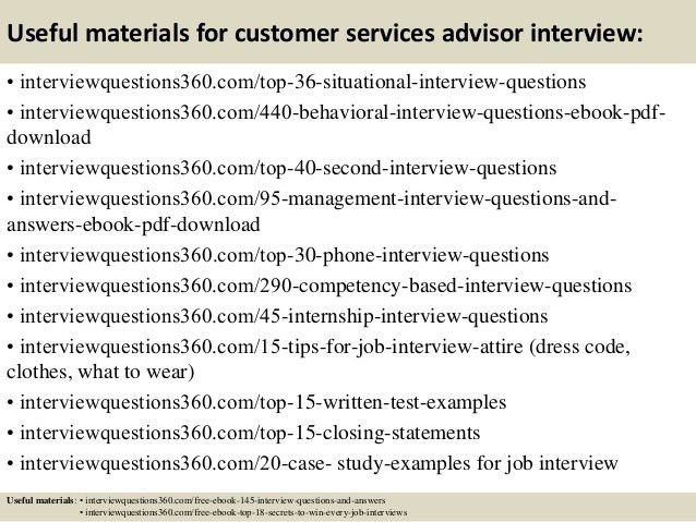 Top 10 customer services advisor interview questions and answers