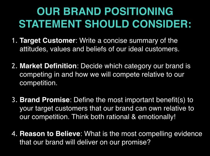 How To Develop An Effective Brand Positioning Statement (part 2/2 ...
