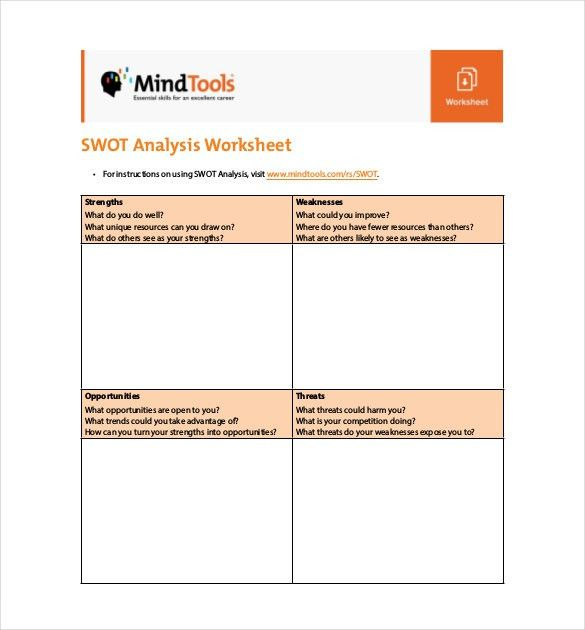 Free SWOT Analysis Template - 11+ Free Word, Excel, PDF Documents ...