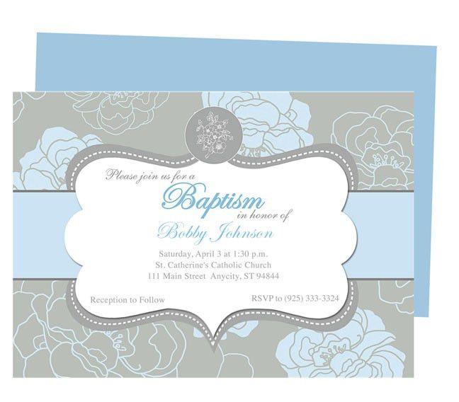 Chantily Baby Baptism Invitation Templates. Printable DIY ...