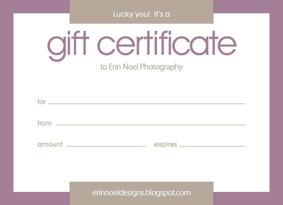 word gift certificate template