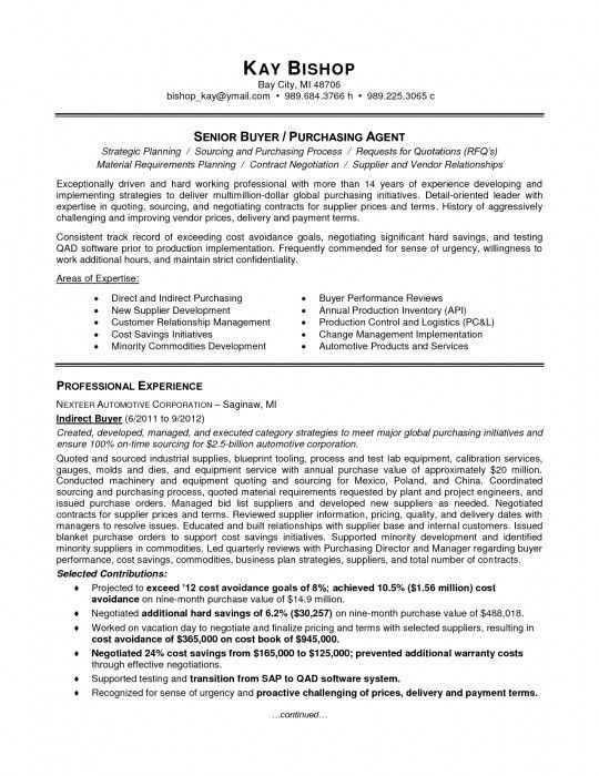 18+ Purchasing Agent Resume Sample | Example Purchasing Manager ...