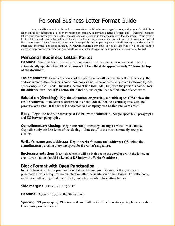 Best 25+ Formal business letter ideas on Pinterest | Formal letter ...