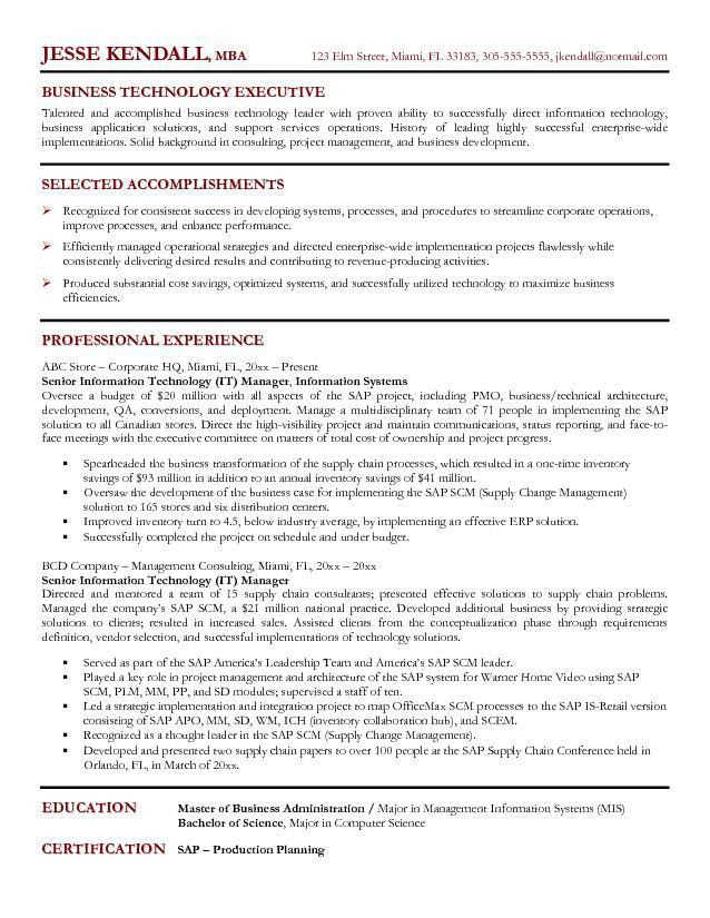 It Manager Resume Sample | haadyaooverbayresort.com