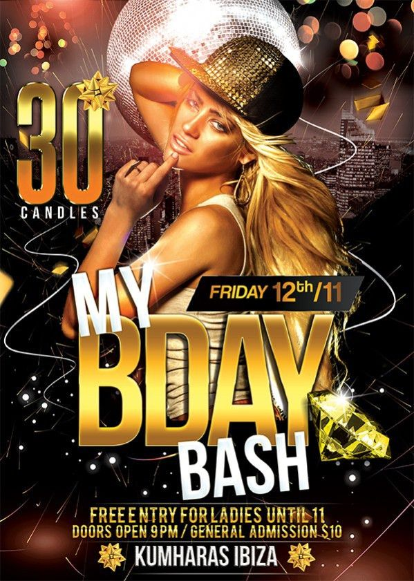 Birthday Bash Flyer template | TDS