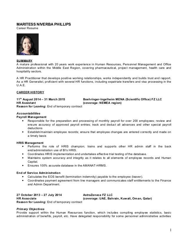 Hr Resume. Human Human Resources Resume Examples Hr (Human ...