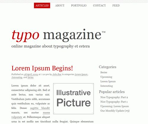 Free Typographic XHTML/CSS-Layouts For Your Designs – Smashing ...