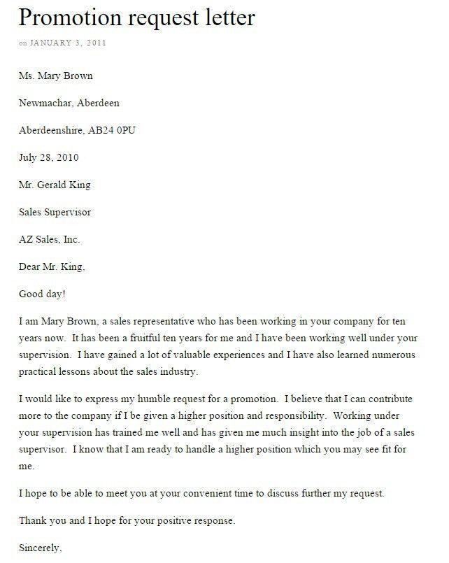 Job Promotion Announcement Letter Archives - Sample Letter