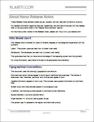 Release Notes | How to write Release Notes for Software Projects