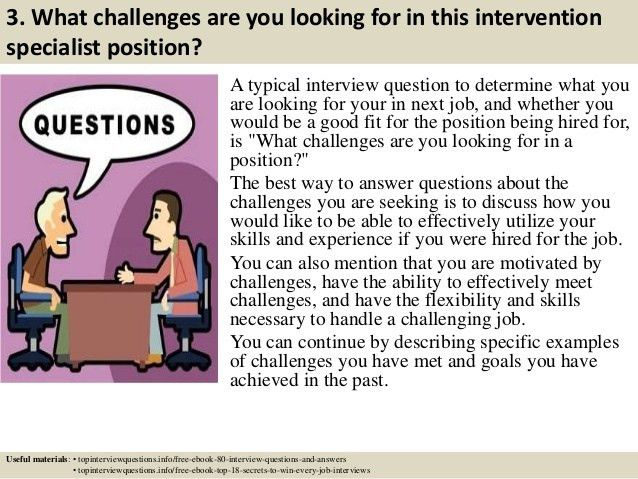 Top 10 intervention specialist interview questions and answers