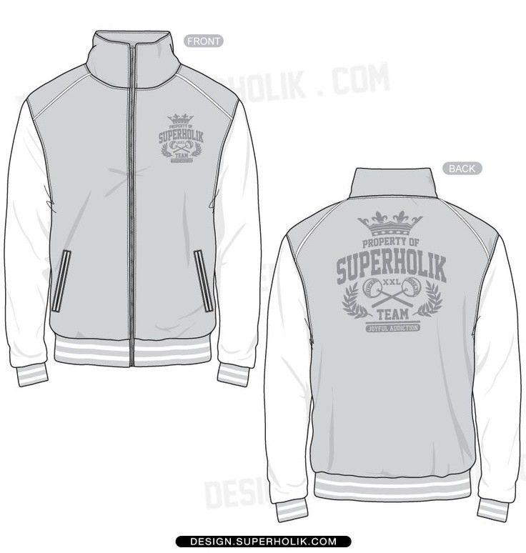 varsity jacket women technical drawing - Cerca con Google ...