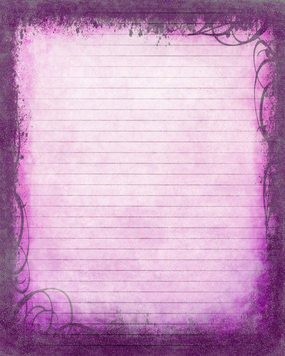 Printable Journal Page, Instant Download, Purple Digital ...