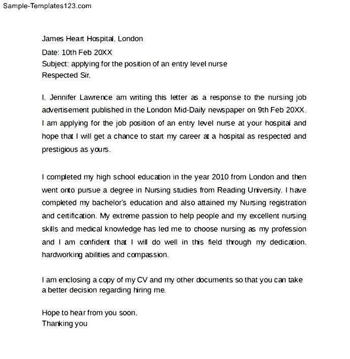 New Nurse Cover Letter - My Document Blog