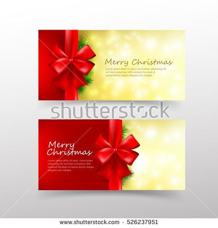 White Gift Card Red Golden Bow Stock Vector 471952427 - Shutterstock