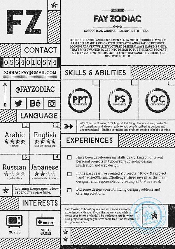 19 best Resume images on Pinterest | Free creative resume ...