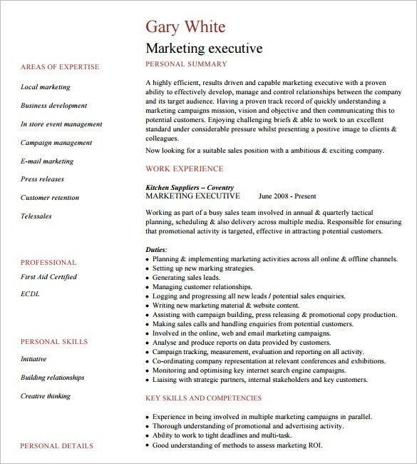 10+ Executive Resume Templates – Free Samples, Examples, & Formats ...