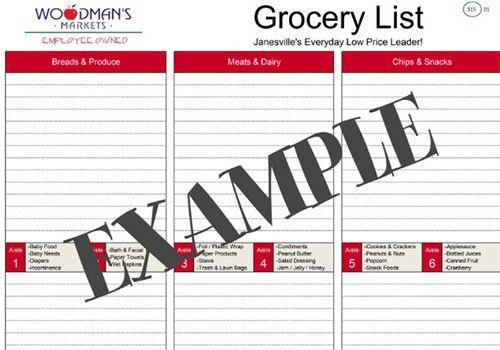 Woodman's Market | Shopping Lists