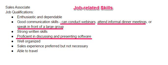 Skills And Abilities For Resume #14411