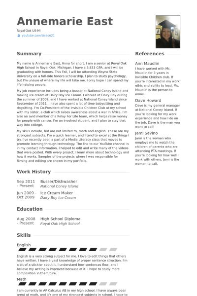 Busser Resume samples - VisualCV resume samples database