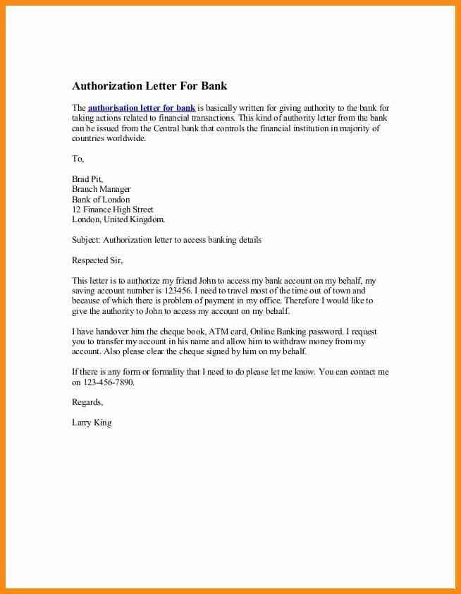 8+ authorisation letter for bank | musicre sumed